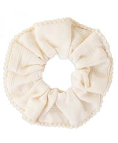 Chan Luu Pom-Pom Trim Scrunchie
