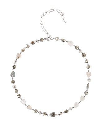 Chan Luu Special Stones Adjustable Necklace in Sterling Silver, 16-20