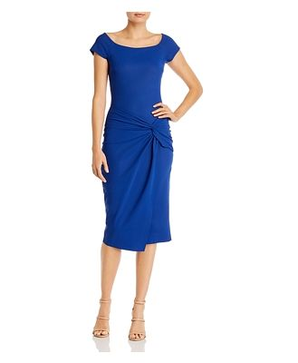 Chiara Boni La Petite Robe Mena Knot-Front Sheath Dress