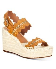 Chloe Women's Lauren Scalloped Espadrille Wedge Sandals