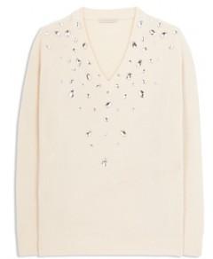 Christopher Kane Embellished Cashmere & Silk Sweater