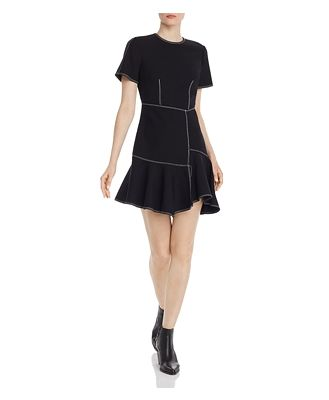 Cinq a Sept Azure Asymmetric Dress