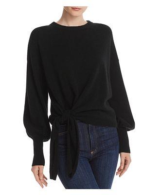 Cinq a Sept Clerisa Tie Detail Cashmere Sweater