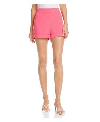 Cinq a Sept Elaine High-Rise Crepe Shorts