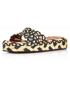 Clergerie Women's Alize Raffia Slide Sandals