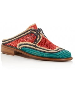 Clergerie Women's Jaly Color-Block Woven Mules