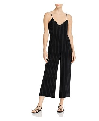 cupcakes and cashmere Lana Pinstriped Cropped Jumpsuit