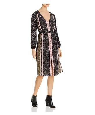 cupcakes and cashmere Nollie Paisley Print Midi Dress
