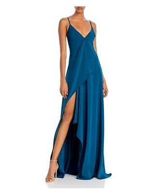 Cushnie Draped Asymmetric Silk Gown