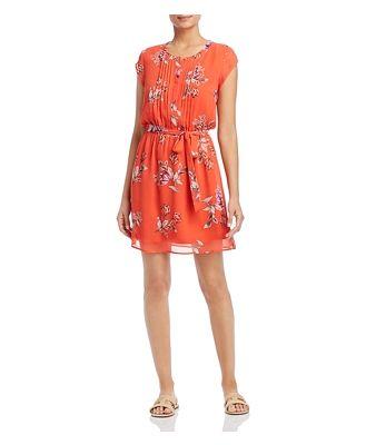 Daniel Rainn Floral-Print Flutter Dress