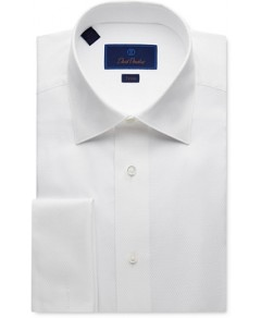 David Donahue Jacquard Trim Fit Tuxedo Shirt