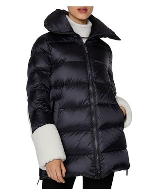 Dawn Levy Emmie Hooded Shearling Trim Puffer Coat