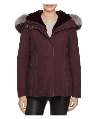 Dawn Levy Maci Fox Fur Trim Parka