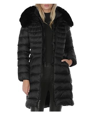 Dawn Levy Milly Shearling Trim Puffer Coat