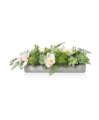 Diane James Home Faux Floral Succulents & Orchids