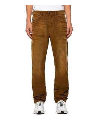 Diesel D-Macs Corduroy Relaxed Fit Jeans in Khaki