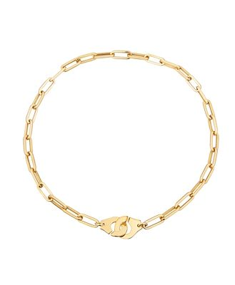 dinh van 18K Yellow Gold Menottes Chain Link Necklace, 17.5
