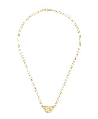 Dinh Van 18K Yellow Gold Menottes Diamond Interlocking Link Necklace, 16.5 - 100% Exclusive