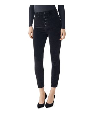 DL1961 Chrissy Ultra High Rise Velvet Skinny Ankle Jeans in Lost