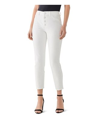 DL1961 Farrow High Rise Cropped Skinny Jeans in Bennington
