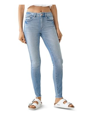 DL1961 Florence Mid-Rise Skinny Ankle Jeans in Osbourne