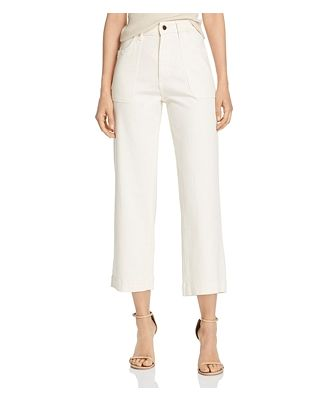DL1961 x Marianna Hewitt Hepburn High-Rise Cropped Wide-Leg Jeans in Sutter