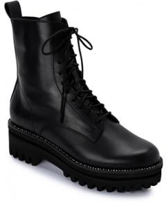 Dolce Vita Women's Prym Rhinestone Trim Leather Platform Booties