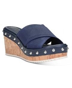 Donald Pliner Women's Idraa Cork Wedge Heel Sandals