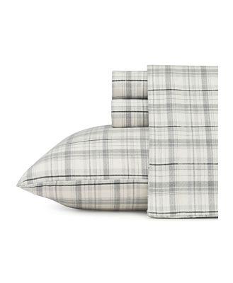 Eddie Bauer Beacon Hill Flannel Sheet Set, Twin