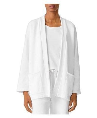 Eileen Fisher Petites Organic Cotton Open Jacket