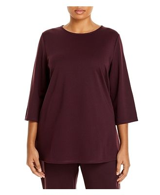 Eileen Fisher Plus Boat-Neck Top
