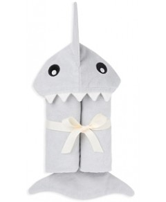 Elegant Baby Boys' Shark Bath-Wrap Towel - Baby
