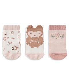 Elegant Baby Unisex Owl Socks, 3 Pack - Baby