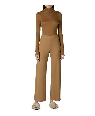 Enza Costa Ribbed Turtleneck Top