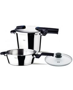 Fissler Vitaquick Quattro Set 6.3-Quart Pressure Cooker & 2.6-Quart Pressure Skillet