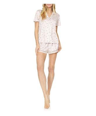 Flora Nikrooz Katrina Printed Chartreuse Pajama Shorts Set
