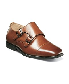 Florsheim Boys' Reveal Double Monk Strap Dress Shoes - Toddler, Little Kid, Big Kid