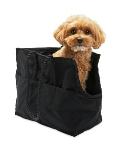 Found My Animal Black Waxed Cotton Canvas Dog Carrier