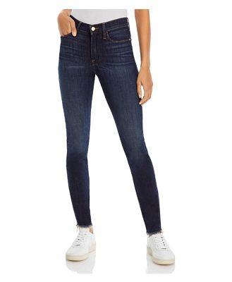 Frame Le High Skinny Jeans in Filbert