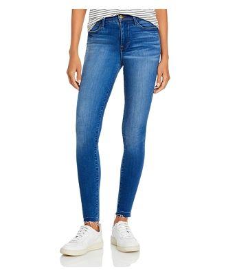 Frame Le High Skinny Raw Hem Jeans in Ambrose