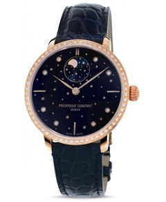 Frederique Constant Slimline Moonphase Watch with Diamonds, 39mm