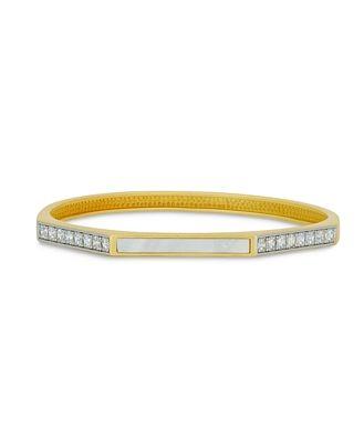 Fredia Rothman Glistening Coast Two Tone Bangle Bracelet