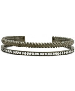 Freida Rothman Textured Synthetic Pearl Double Rope Cuff Bracelet