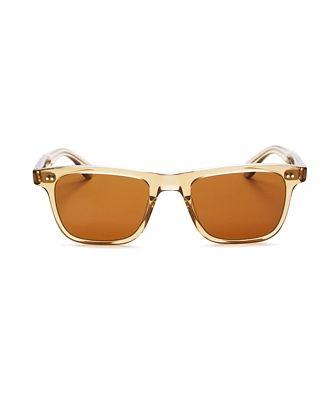 Garrett Leight Unisex Wavecrest Polarized Square Sunglasses, 50mm