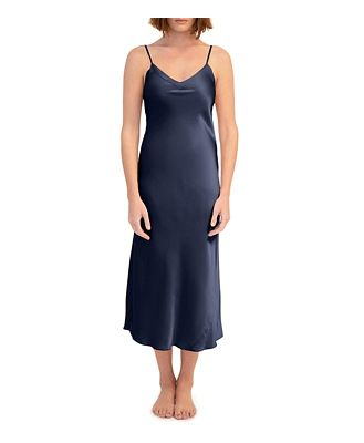 Ginia Silk V-Neck Nightgown