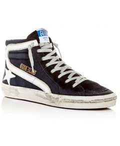 Golden Goose Deluxe Brand Men's Slide Denim & Suede High-Top Sneakers