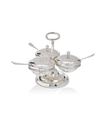 Greggio Triple Compartment Server with Spoons