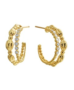 Gumuchian 18K Yellow Gold Nutmeg Diamond Double Hoop Earrings