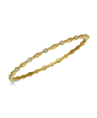 Gumuchian 18K Yellow Gold Nutmeg Diamond Oval Bangle