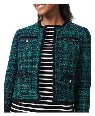 Hobbs London Rosa Cropped Tweed Jacket